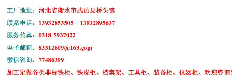 河北武邑铁柜厂家铁皮柜工具柜文件柜警用装备柜